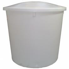 Cylindrisk konisk beholder med låg